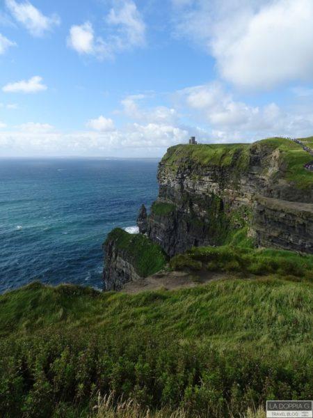 vista delle cliff of moher vicino al visitor centre