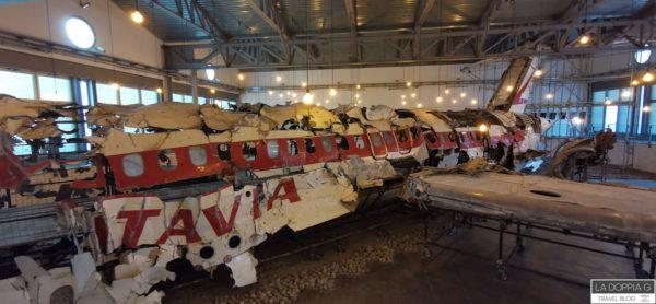 aereo strage di ustica ricostruito a Bologna