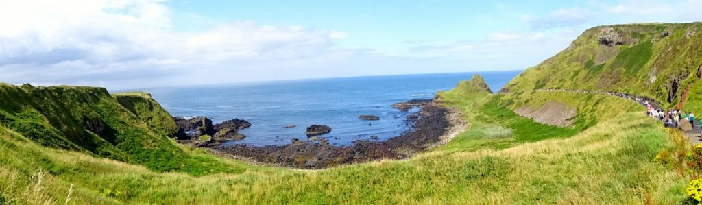 Irlanda Giant's Causeway vista dall'alto