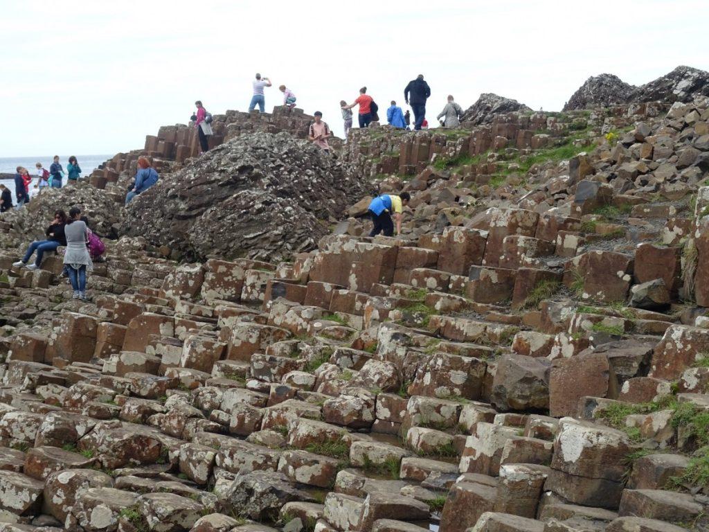 Irlanda Giant's Causeway rocce di basalto