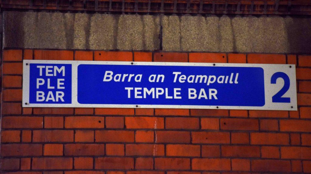 dublino temple bar insegna