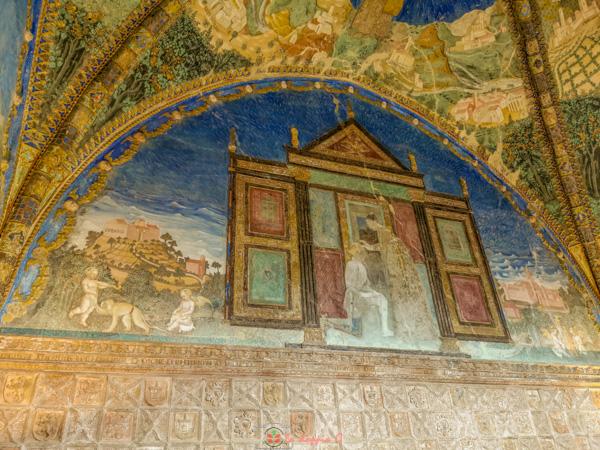 camera d'oro del castello di torrechiara