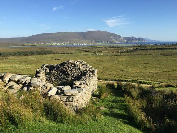 vista da achill island sulla contea di  mayo in irlanda